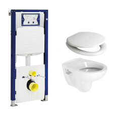 Geberit UP320 toiletset met Plieger Compact toilet en softclose zitting