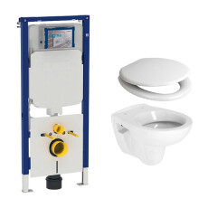 Geberit UP720 toiletset met Plieger Compact toilet en softclose zitting