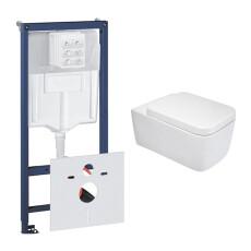 Grohe Rapid toiletset met Mueller Larx en softclose zitting
