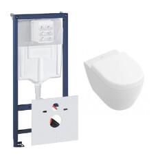 Grohe Rapid toiletset met Villeroy en Boch Subway 2.0 compact wandcloset en zitting