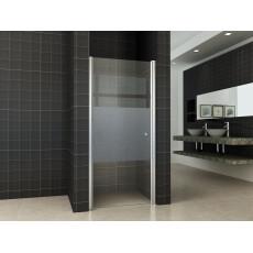 Mueller Satijn douchedeur met mat glas 100x200cm ANTI-KALK