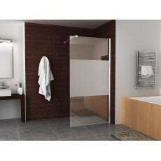 Mueller Satijn douchescherm met matglas band 80x200cm