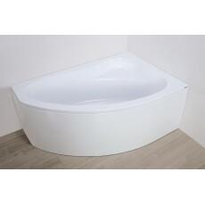 Plazan Ekoplus hoekbad met frontpaneel 140x90cm wit rechts