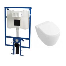 Plieger Flair Compact toiletset met Villeroy en Boch Subway 2.0 compact wandcloset en zitting