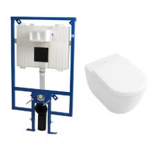 Plieger Flair Compact toiletset met Villeroy en Boch Subway 2.0 Direct Flush wandcloset en zitting