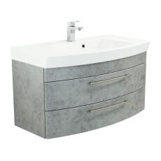 Saniclear Bella halfrond badmeubel 100cm beton grijs