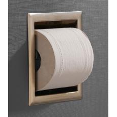 Saniclear Brass inbouw toiletrol houder zonder klep geborsteld messing - mat goud