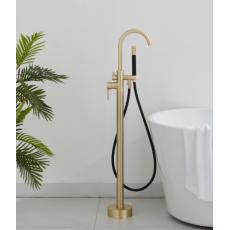 Saniclear Brass Pro vrijstaande badkraan geborsteld messing / mat goud