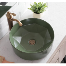Saniclear Evita ronde waskom 40x14,5cm mat groen