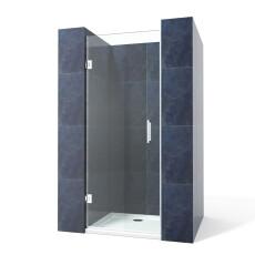 Saniclear Modern profielloze douchedeur 80x200cm Anti-kalk glas chroom
