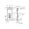Geberit Delta Duofix inbouwreservoir UP100 basic 112x50cm