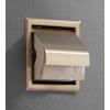 Saniclear Brass inbouw toiletrol houder met klep geborsteld messing - mat goud