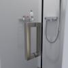 Saniclear Modern profielloze douchedeur 70cm met RVS scharnieren