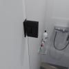 Saniclear Modern profielloze douchedeur 70cm met zwarte scharnieren