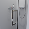 Saniclear Modern profielloze douchedeur 70x200cm Anti-kalk glas chroom