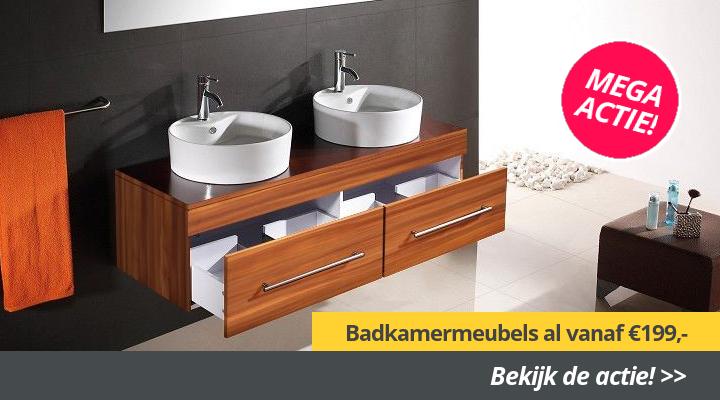 Badkamer en tegels 50% korting online sanitair